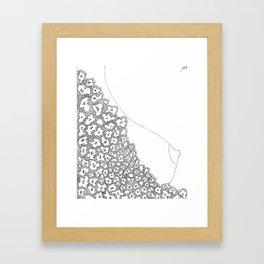 dress Framed Art Print