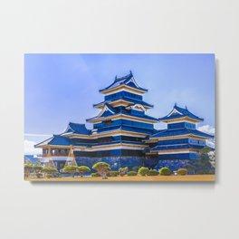 Matsumoto Castle Exterior, Nagano, Japan Metal Print
