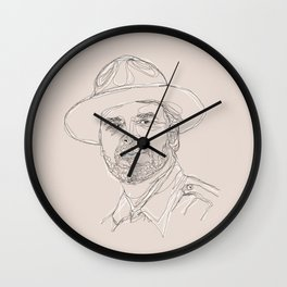 A Very Handsome Sheriff Wall Clock