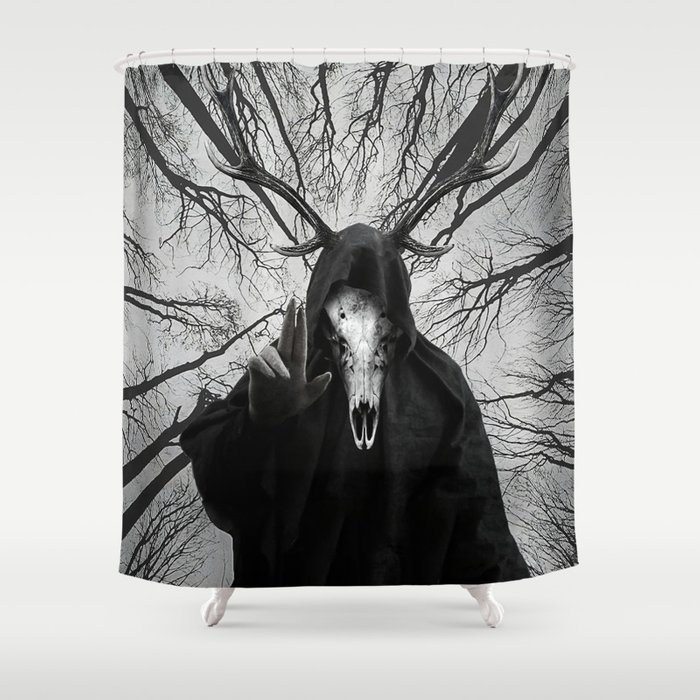 Gothic Forest God Shower Curtain