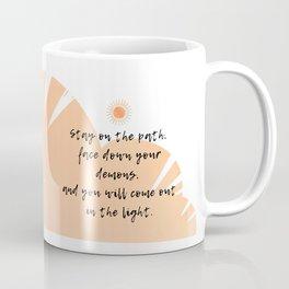 Facing Down Demons By Cody Roark - Orange Coffee Mug