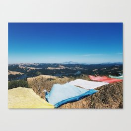 On top of a Mountain Canvas Print
