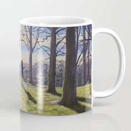 Winter Sun on Inverleith Park - Edinburgh Painting Coffee Mug