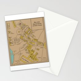 Historic Plan of the Imperial Forum Rome Map Stationery Cards