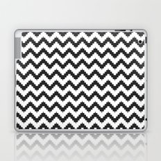 Funky chevron - black Laptop & iPad Skin