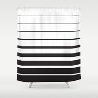 returns Shower Curtains featuring Diminishing Returns by Ryan Johnson