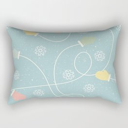 Christmas Snowflakes And Gloves Rectangular Pillow