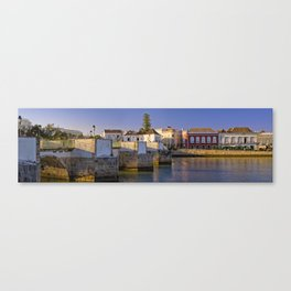Tavira old town panoramic Canvas Print
