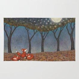 sleepy foxes Rug