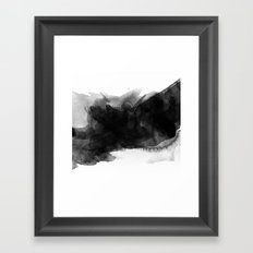 Minimalist watercolor ink Framed Art Print