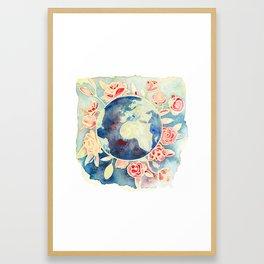Blooming world Framed Art Print