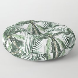 South Pacific palms Floor Pillow