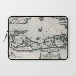 Vintage Map of Bermuda (1636) Laptop Sleeve