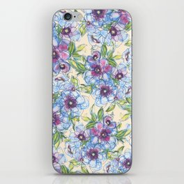 Big Blue Poppies iPhone Skin