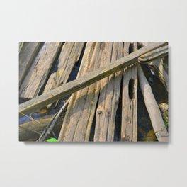Woodwork Metal Print