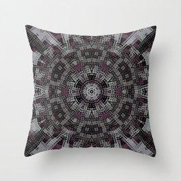 Dot Fourier Mandala 3 Throw Pillow