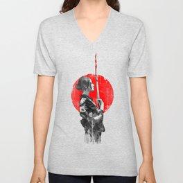 Samurai Girl Unisex V-Neck
