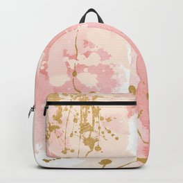 Abstract pink painting Backpack