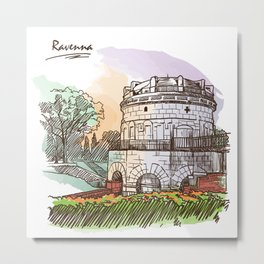 Sketches from Italy - Ravenna Metal Print