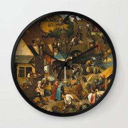 Pieter Bruegel The Elder - The Dutch Proverbs Wall Clock