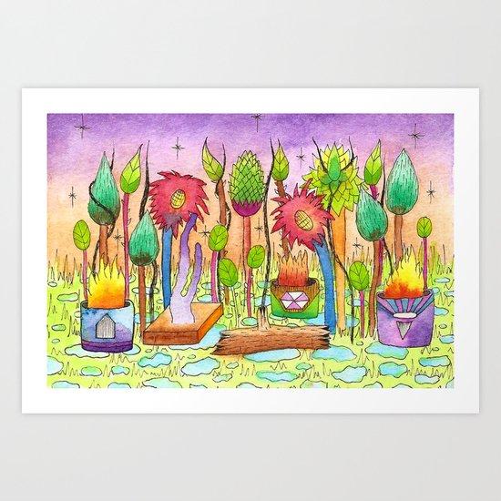 Dream Garden 2 Art Print