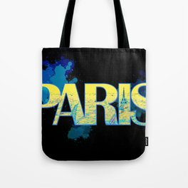 Paris - Typography Tote Bag