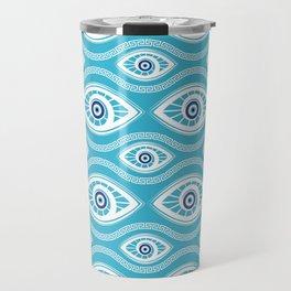 Greek Mati Mataki - Matiasma Evil Eye Pattern #6 Travel Mug