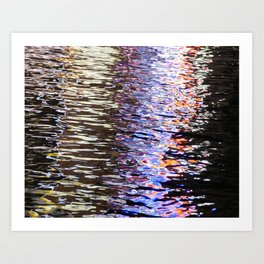 Abstract Lights on River Water in Japan 5 Art Print