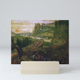 """Pieter Bruegel (also Brueghel or Breughel) the Elder """"The Suicide of Saul"""" Mini Art Print"""