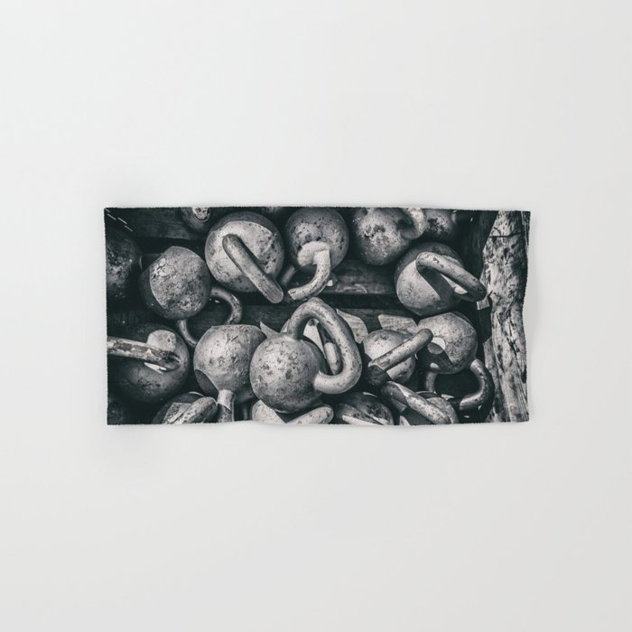 Crossfit fitness gym background Hand & Bath Towel by arianeart