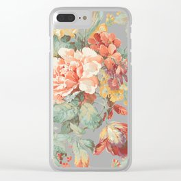 fall garden Clear iPhone Case