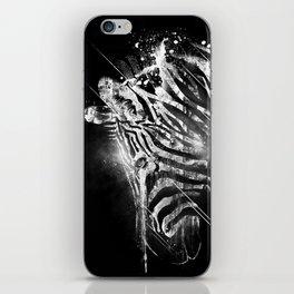 Zebra Mood - White iPhone Skin