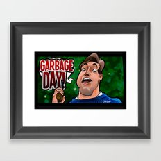 Garbage Day (Silent Night Deadly Night Part 2) Framed Art Print
