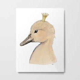 Swan Kid Metal Print