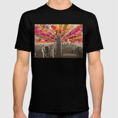 BLOOMING NY Black MEDIUM Mens Fitted Tee