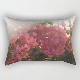 Dreamy Tropical Flowers Rectangular Pillow