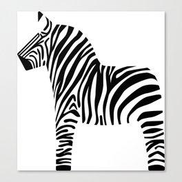 Dala Zebra Canvas Print