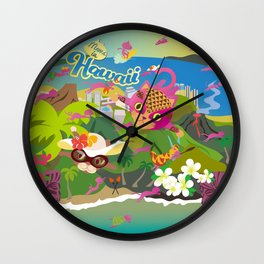 Mews in Hawaii Wall Clock