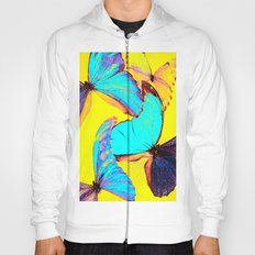 Shiny and colorful butterflies Hoody