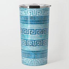 Greek Meander Pattern - Greek Key Ornament Travel Mug