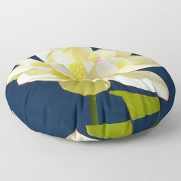 Lotus Flower by Teresa Thompson Floor Pillow