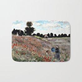 Claude Monet's Poppy Fields Bath Mat