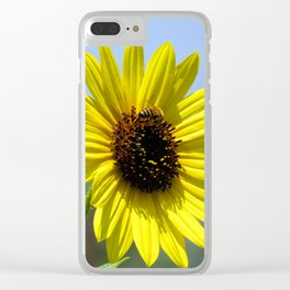 Sunflower bloom Clear iPhone Case