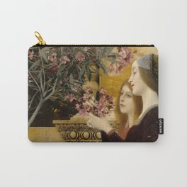 "Gustav Klimt ""Two Girls With An Oleander"" Carry-All Pouch"