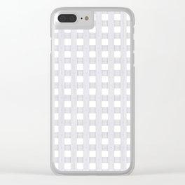 Light Grey Wood Lattice Clear iPhone Case