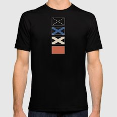 Stars & Bars Deconstructed Mens Fitted Tee Black SMALL
