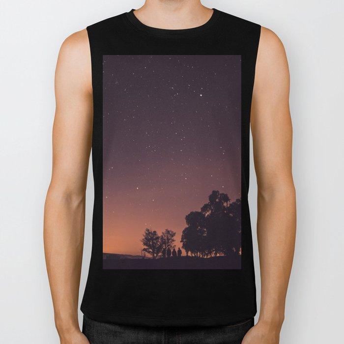 Sunset stars Biker Tank