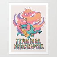 Terminal Velociraptor (version 2) Art Print