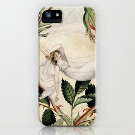 """A Fairy Resting in a Hammock"" by Amelia Jane Murray iPhone Case"