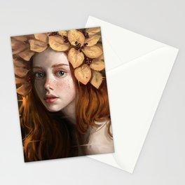 Ekaterina's Autumn-Portrait Stationery Cards